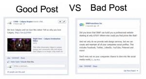 Good Social Media Post vs Bad Social Media Post